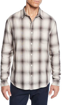 Vince Men's Double Face Plaid Shirt