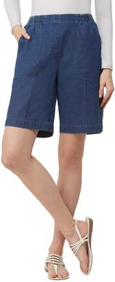 Alia Petite Cottage Pull-On Denim Shorts