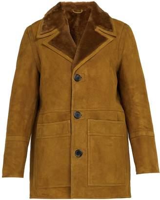 Ami Patch pocket shearling jacket