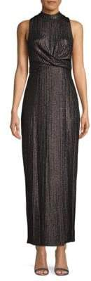 BCBGeneration Ribbed Sleeveless Gown