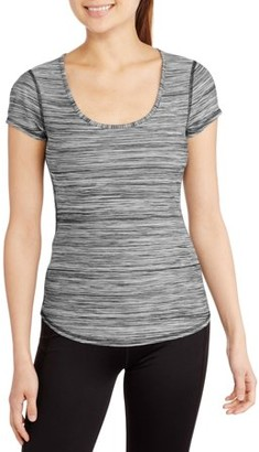 Danskin Juniors' Dri-More Scoop Neck Melange Tee