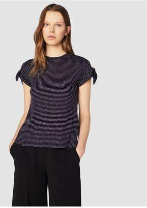 Derek Lam 10 Crosby Tee With Knot Detail