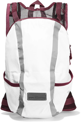 Adidas by Stella McCartney - Mesh-paneled Shell Backpack - White $125 thestylecure.com