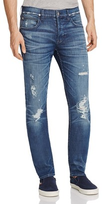 Hudson Blake Slim Straight Fit Jeans in Hayday $245 thestylecure.com