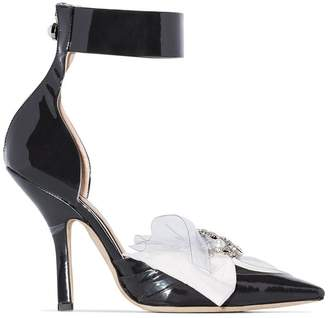 465783390261 Midnight 00 105 brooch bow ankle strap pumps