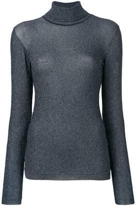 Faith Connexion lurex turtleneck sweater