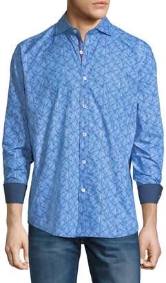 Bugatchi Classic-Fit Geometric Pattern Sport Shirt