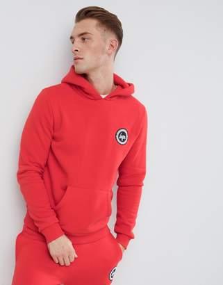 Hype logo hoodie in red