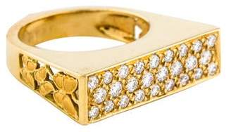 Carrera y 18K Diamond Baile de Mariposas Ring
