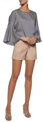 Alice + Olivia Pleated Leather Shorts