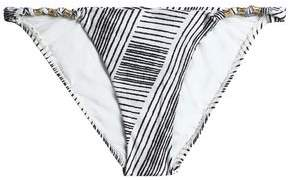 Vix Paula Hermanny Knotted Printed Low-Rise Bikini Briefs