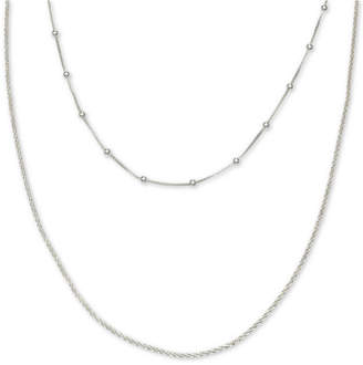 """Giani Bernini Layered Choker Chain Necklace in Sterling Silver, 12"""" + 4"""" extender"""