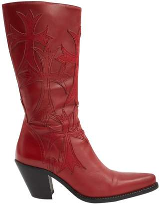 Free Lance Red Leather Boots