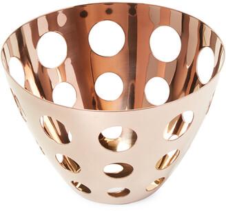 Mepra Rose Gold-Tone Bread Basket