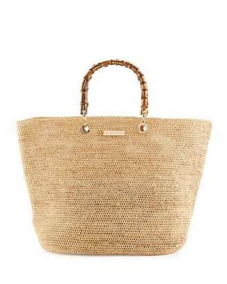 Heidi Klein Savannah Bay Medium Raffia Beach Tote Bag, Neutral $395 thestylecure.com
