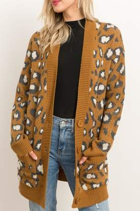 Style Trolley Animal Print Knit-Cardigan