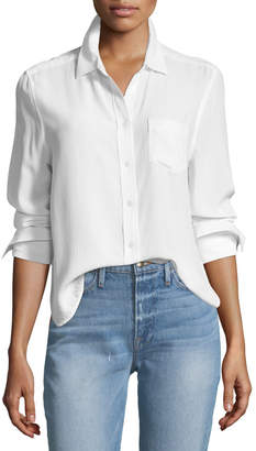 Equipment Huntley One-Pocket Short Silk Shirt
