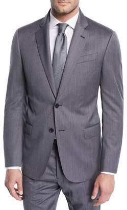 Emporio Armani Striped Twill Two-Piece Wool Suit