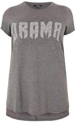 Yours Clothing Women's Plus Size Limited Collection Embellished 'drama' Top