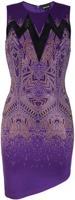 Just Cavalli sheer panel studded mini dress