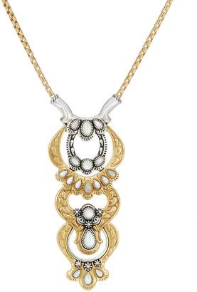 "American West Luna Gemstone Sterling Brass Changeable 18"" Necklace"