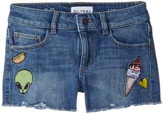 Almost Famous DL1961 Kids Lucy Patch Work Shorts in Girl's Shorts