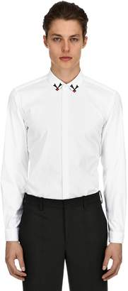 Neil Barrett Slim Fit Cotton Poplin Shirt