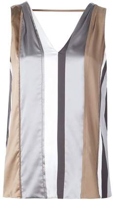 Brunello Cucinelli striped sleeveless top
