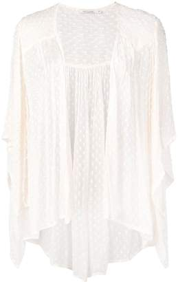 Mes Demoiselles embroidered draped cardigan