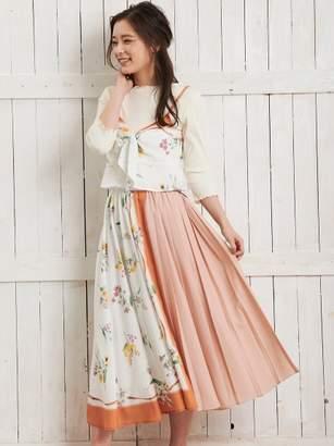 Noela (ノエラ) - ノエラ フラワースカーフ柄スカート
