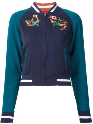 Elizabeth And James bird embroidery bomber $1,186 thestylecure.com