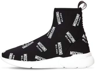 Moschino 20mm Logo Knit Sock Sneakers