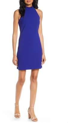 Vince Camuto Ruffle Neck Sheath Dress