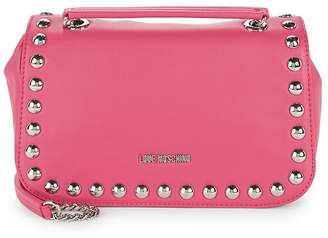 Love Moschino Women's Faux Leather Studded Crossbody Bag