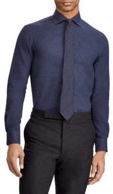 Ralph Lauren Purple Label Solid Burshed Button-Down Shirt
