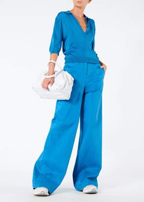 Tibi Garment Dyed Twill Wide Leg Jean