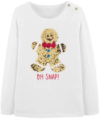 Osh Kosh Oshkosh Girls Round Neck Long Sleeve T-Shirt-Preschool