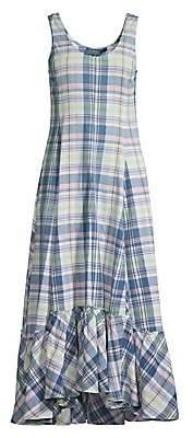 Polo Ralph Lauren Women's Madras Sleeveless Cotton Dress - Size 0