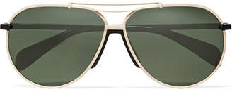 Rag & Bone Aviator-style Metal Sunglasses - Black