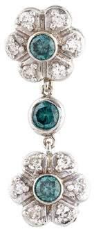 14K Diamond Floral Drop Pendant