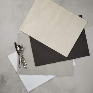 west elm Belgian Flax Linen Placemat Set - Lined