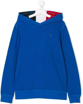 Tommy Hilfiger Junior TEEN textured hoodie