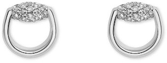 Women's Gucci Horsebit Diamond Stud Earrings $2,200 thestylecure.com