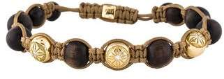 Shamballa 18K Diamond & Wood Bracelet