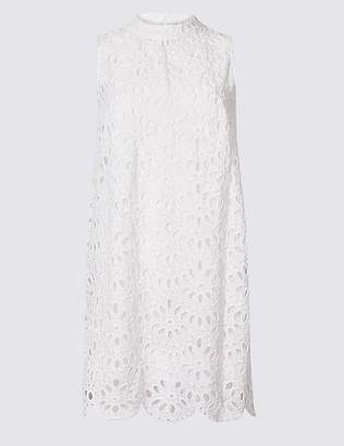 Marks and Spencer Pure Cotton Embroidered Tunic Dress