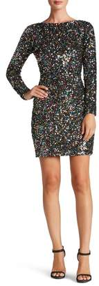 Dress the Population Lola Long Sleeve Sequin Mini Dress