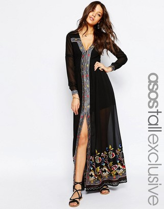 ASOS Tall ASOS TALL Maxi Dress with Embroidery $106 thestylecure.com