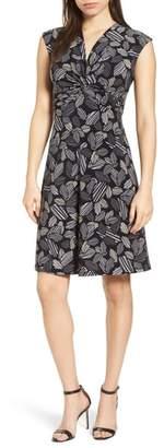 Anne Klein Field Trip Twist Front Knit Dress