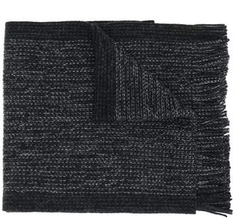HUGO BOSS two tone knitted scarf