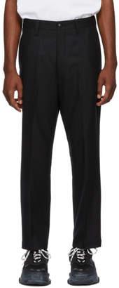 Junya Watanabe Black Flannel Trousers